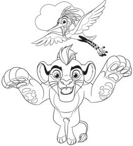 Lion King Coloring Page of Lion Guard