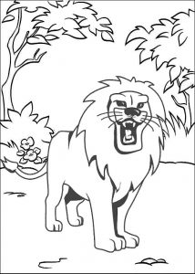 Lion Safari Animal Coloring Sheet