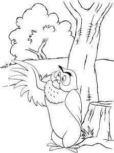OWl Winnie the Pooh Coloring Page of Disney