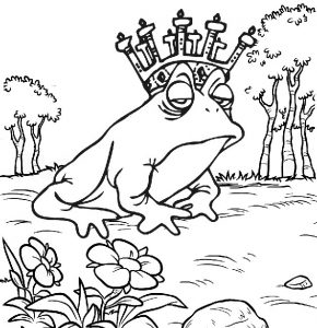Prince Frog Coloring Sheet for Kids 608x628 1