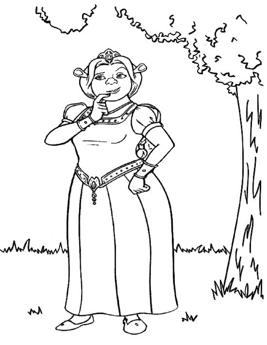 Princess Fiona Coloring Sheet Of Shrek Mitraland