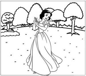Princess Snow White Coloring Page for Little Girls