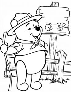 Free Printable Winnie The Pooh Coloring Pages For Kids | 300x232