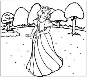Snow White Disney Coloring Sheet