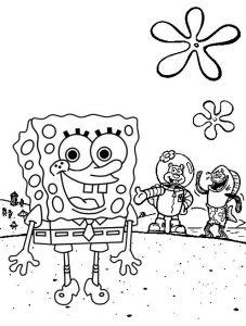 Spongebob Squarepants Underwater Coloring Page