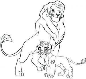 The Lion Guard Simba Disney Coloring Page for Fans
