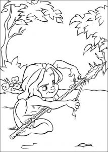 Young Tarzan Coloring Page for Disney Lovers
