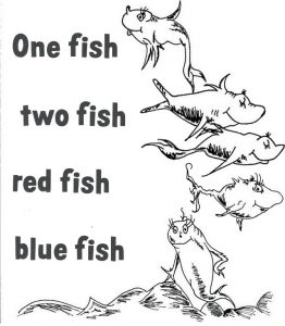best one fish two fish red fish blue fish coloring sheet