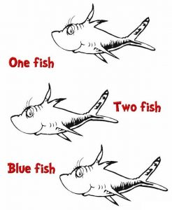 happy dr seuss one fish two fish coloring pages for kids
