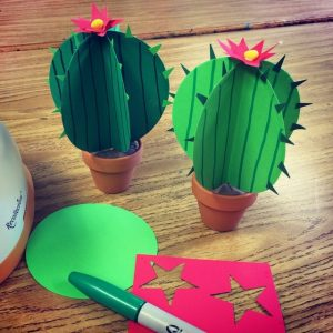 Cactus Paper Craft for Table Decor Ideas