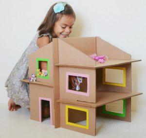 Cardboard Dollhouse Crafts for Girls