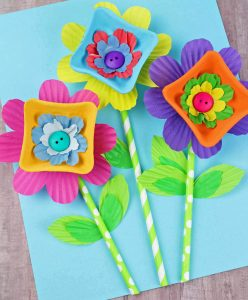 Cardboard Flowers Craft for Gilrs