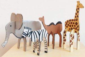 Cardboard Zoo Animals Projects