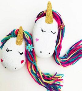 Cute Unicorn Stone Craft