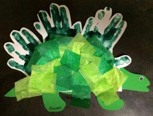 Dinosaur tissue paper craft