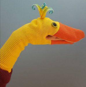 Duck themed Sock Puppet