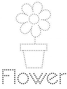 Flower Name Tracing Worksheet