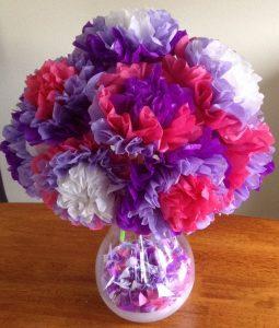 Flower bouquet tissue paper craft