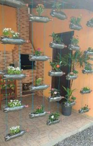 Hanging Planter Craft Made out of Bottles