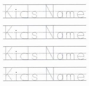 Kids Name Tracing Letter Worksheet