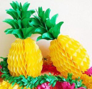 Pineapple tissue paper craft