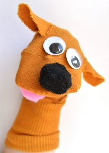 Puppy Dog Sock Puppet Craft