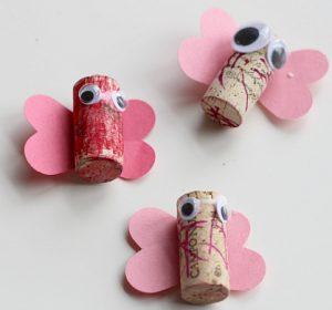 Recycled Cork Butterflies Craft