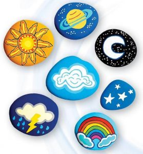 Skyand Outer Space Stone Painting Project