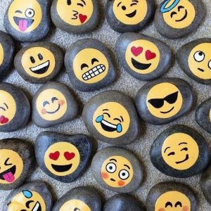 Smiley or Emoticon Painted Stones Craft