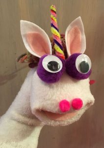 Unicorn Sock Puppet Craft