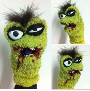 Zombie Made out of Sock Puppet Craft