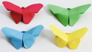 butterfly origami construction paper crafts
