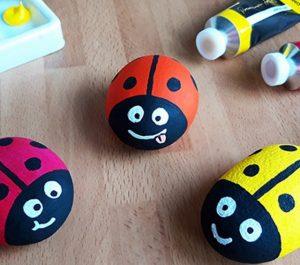 ladybird stone painting craft ideas