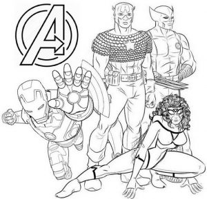 Avengers Coloring Page for Movie Fans