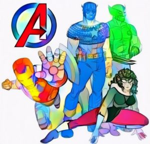 Avengers Marvel Studio Coloring Page