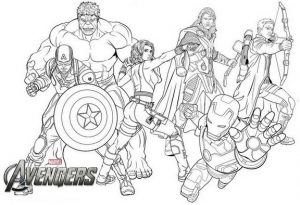 New Avengers Endgame Coloring Page During Stay At Home