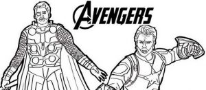 Super Cool Avengers And Thor Coloring Page