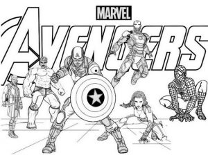 The Avengers Coloring Page During Weekend