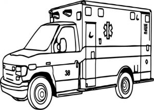 ambulance coloring page will keep kids engaged for hours
