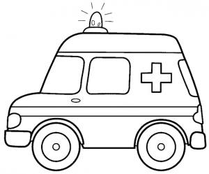 ambulance coloring pages stay at home